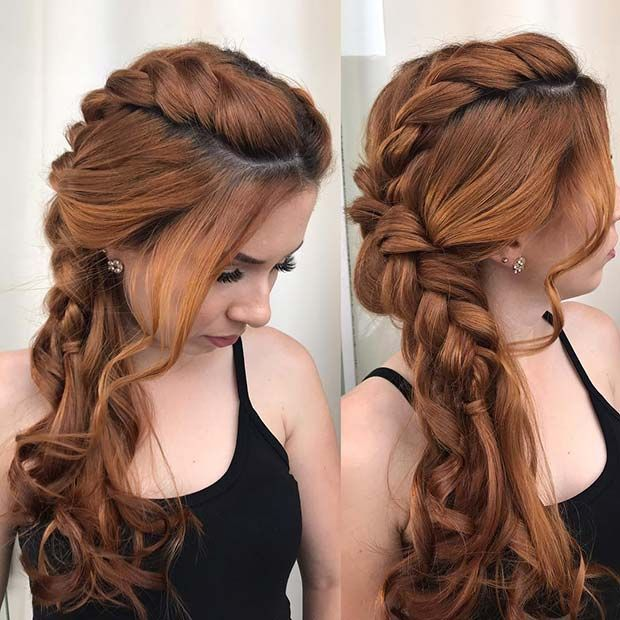 60 Stunning Prom Hairstyles Pageant Planet Find The Best Hairstyles For Thick Or Thin Hair Pageant Prom Hair Stylish Hair Braided Hairstyles Hair Styles