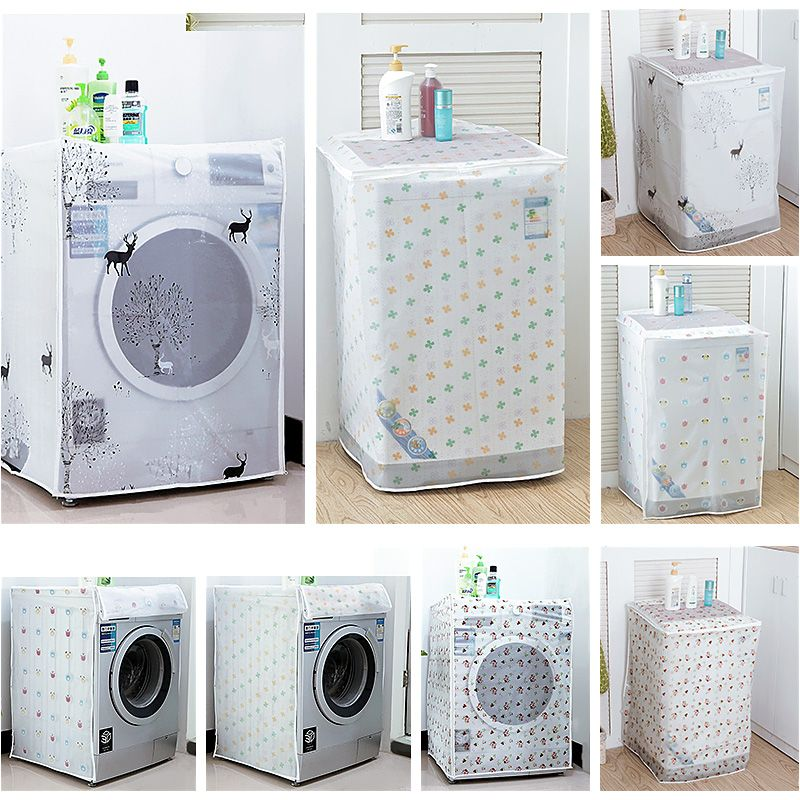 4 28 Trendy Washing Machine Dust Cover Protection Durable Washer Dryer Cover Afflink Trendy Washing Machine Dust Cover Protection Bathroom In 2019