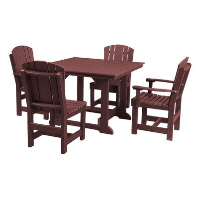Little Cottage Company Heritage 5 Piece Dining Set Finish: Cherry Wood