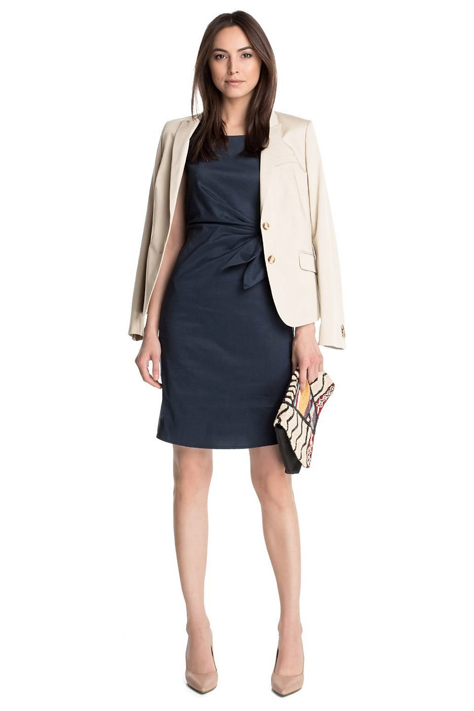 Photo of Esprit Collection dress with fine sheen, cotton / stretch …