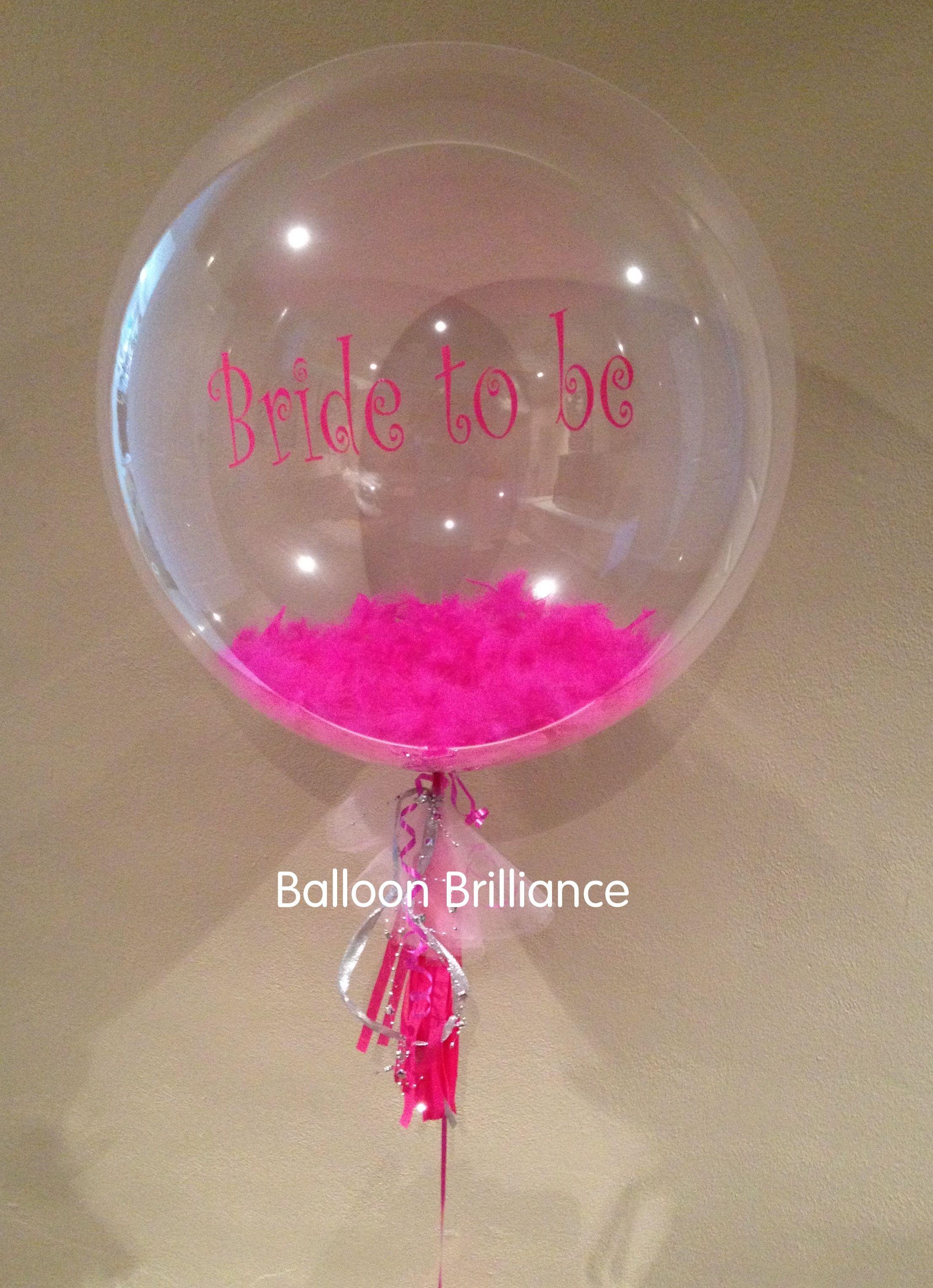 Hensnight Bridetobe Feathers Tels Personalised Balloon Balloonbrilliance