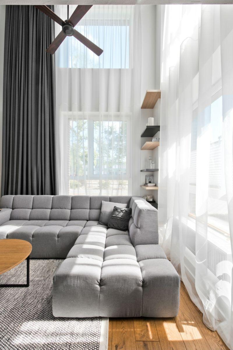 Dekoration Skandinavischer Stil In Grau Fur Moderne Loft Einrichtung