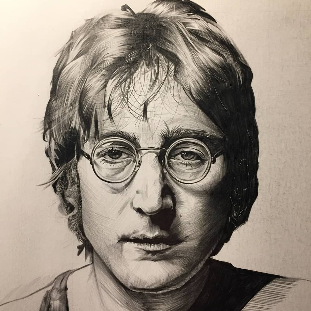 Old Lennon Drawing Before I D Put In The Background Lennon Drawings Background