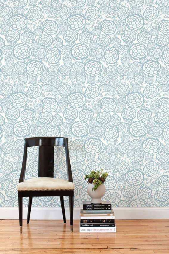 A cup of jo removable wallpaper for renters homes and for Removable flooring for renters