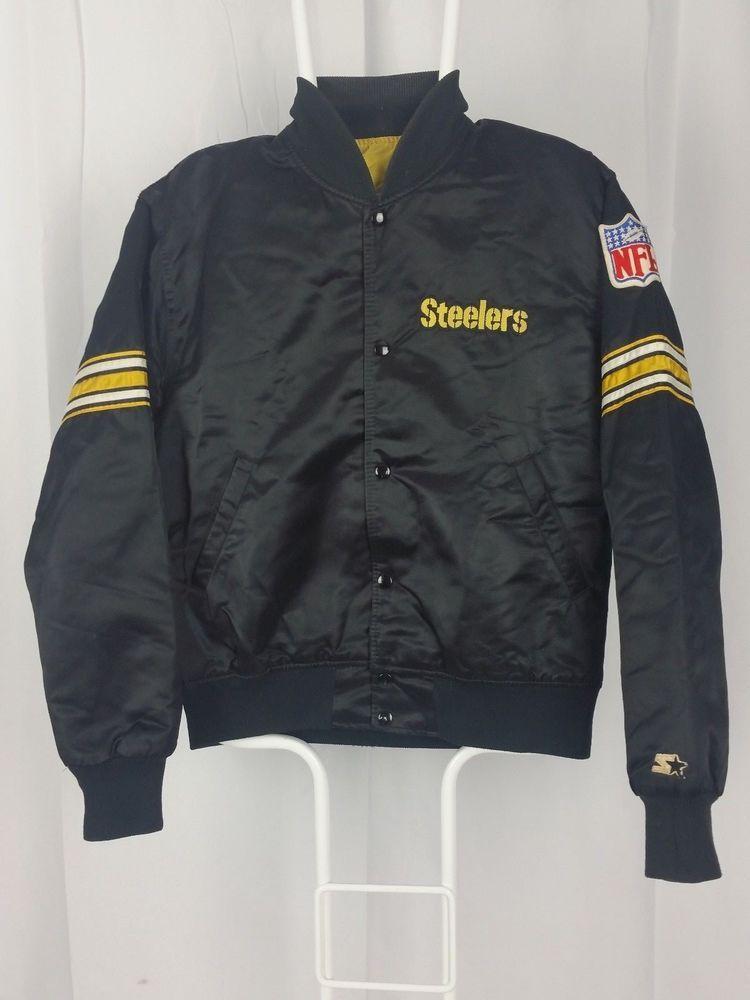 wholesale dealer 33911 86bbf VTG 80s Starter Pro Line Sewn Jacket Pittsburgh Steelers NFL ...