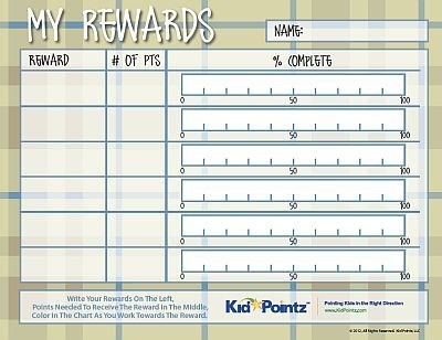 behavior chart for older students SC - Behavior Modification - blank reward chart template