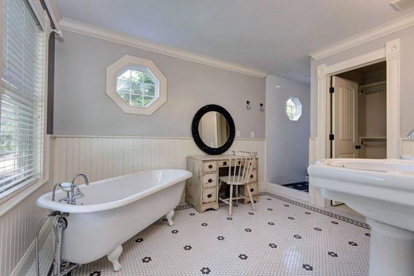 27 Beautiful Bathrooms With Clawfoot Tubs Pictures  Penny Tile Cool Bathroom With Clawfoot Tub Ideas Design Inspiration