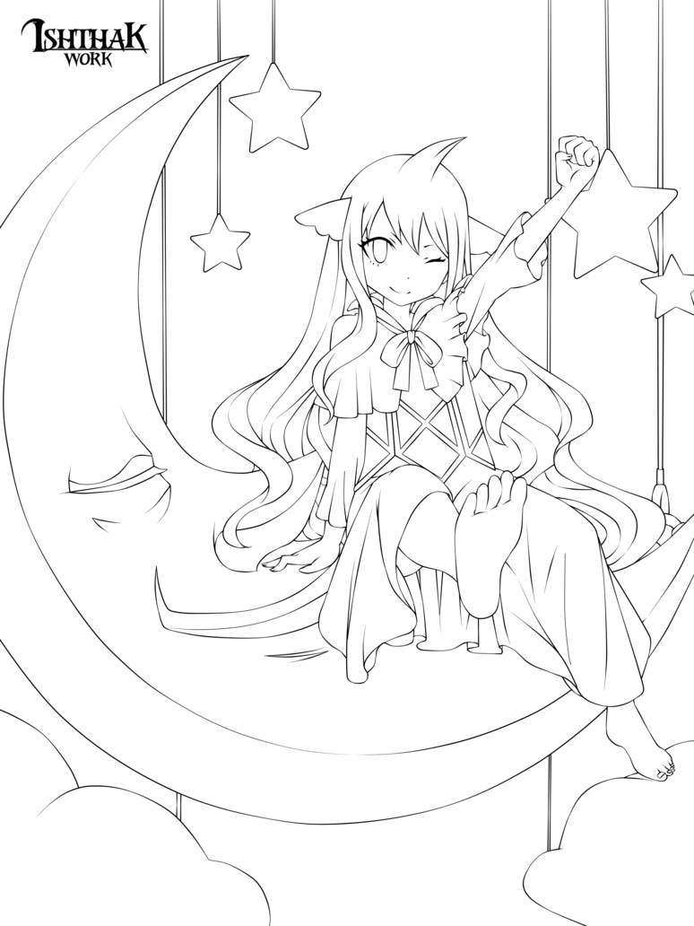 Anime Colouring Page Anime Lineart Fairy Tail Art Cool Coloring Pages