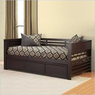 Black Day Bed With Pull Up Side Table Wood Daybed Daybed With
