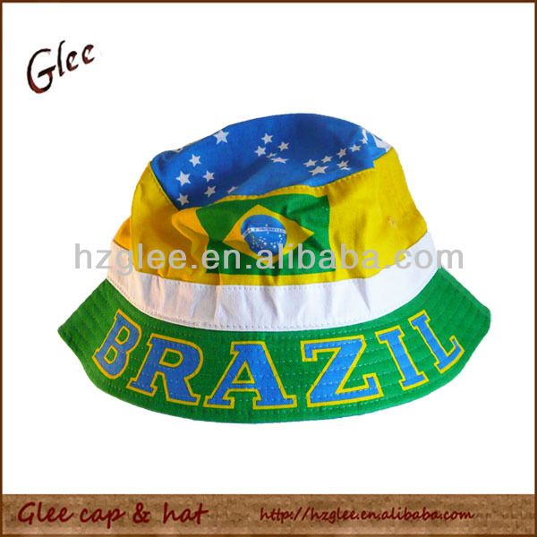 Brazil flag bucket hat