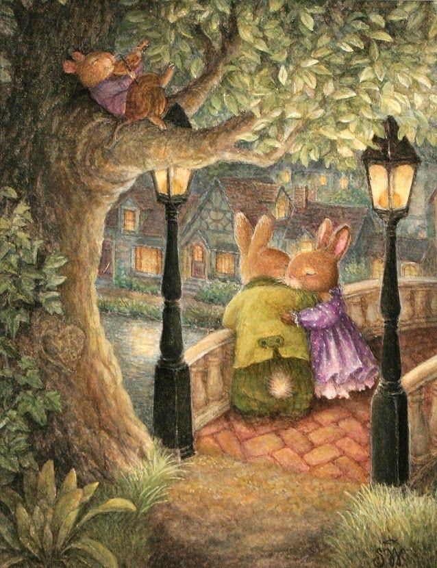"""Couple on Bridge"" ~ Susan Wheeler, Holly Pond Hill"