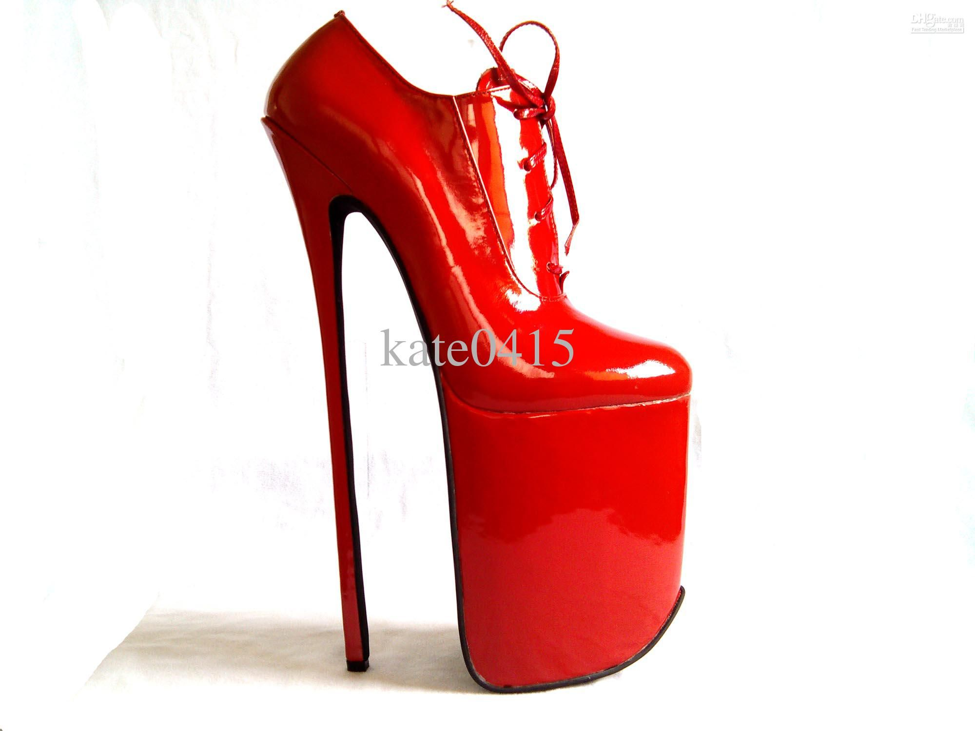 6d4504966994 12 Inches High Heel Red Pumps
