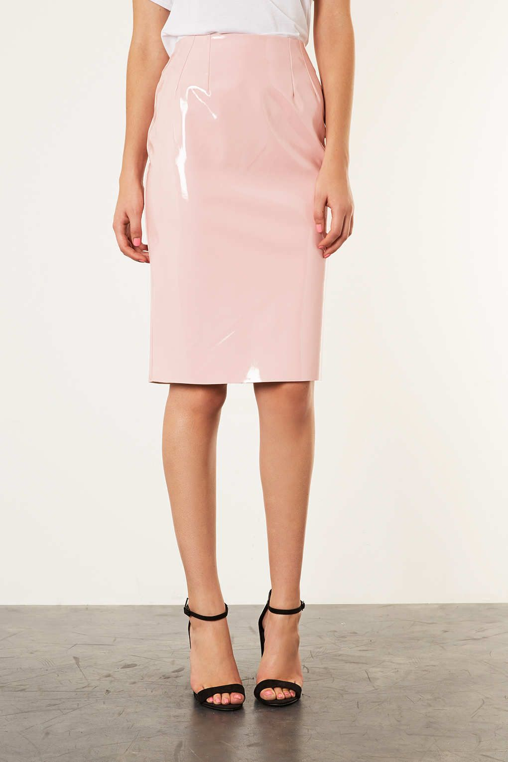 Pink PVC pencil skirt aka everything. | Pink | Pinterest | Vinyls ...