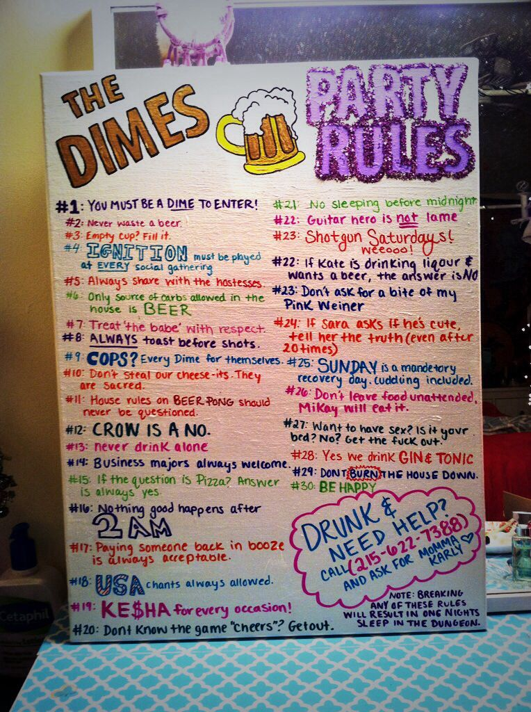 College Party Rules Familie Pinterest House Party Rules