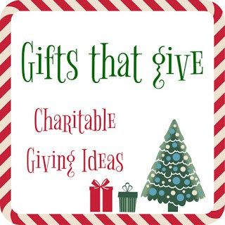 Gifts that Give: Charitable Giving for the Holidays - DIY Danielle