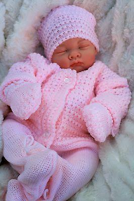 03c46e63ef52f STUNNING REBORN LIFELIKE BABY GIRL IN SPANISH KNITTED SET FULL LIMBS 016 Baby  Dolls For Kids