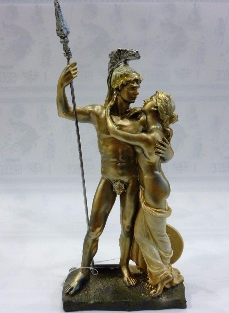 Ancient Greek Mythology Achilles And Briseis Statue Sculpture 0080