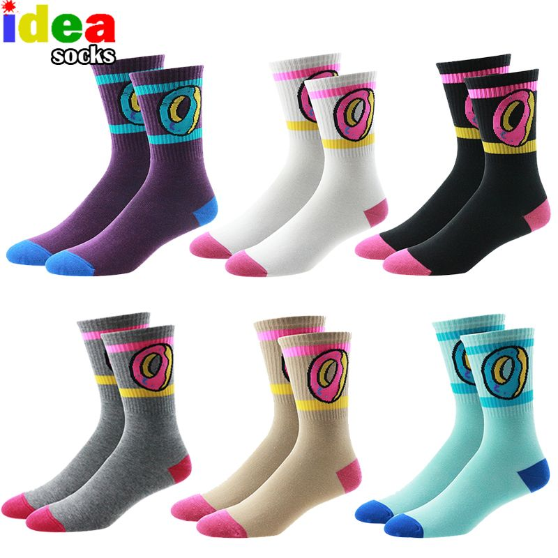 b3198b2d67af ofwgkta odd future socks donut graphic men women cute dot cotton long socks  novelty striped skateboard socks wholesale