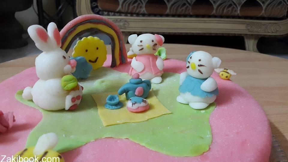 كيف تصنع مجسمات سهلة من عجينة السكر زاكي Bakery Food Cake