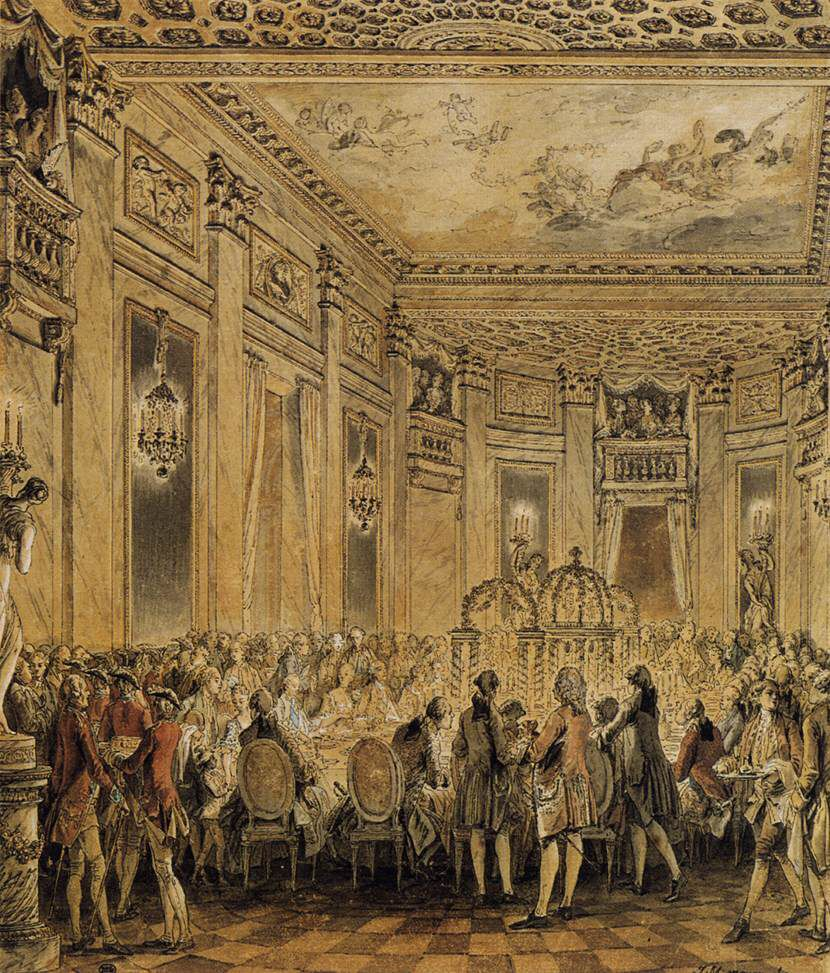 Jean Michel Moreau Banquet Given In The Presence Of The King Madame Du Barry Duke Of Devonshire 18th Century
