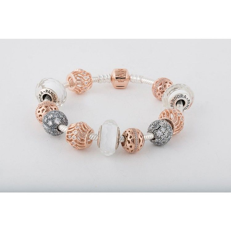 Pandora Rose Gold And Silver Bracelet Pandora Jewellery