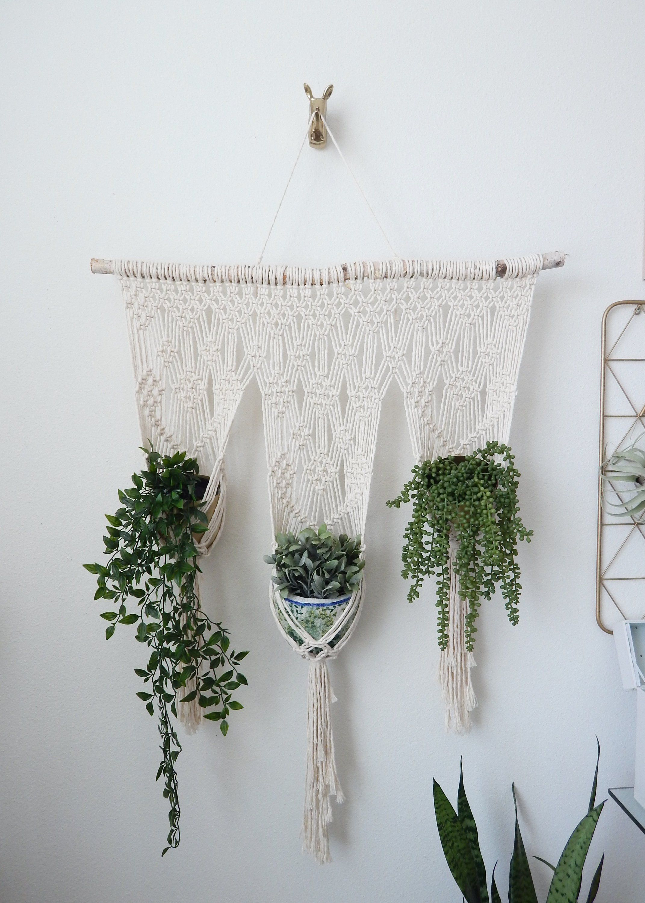 Large Hanging Planter Wall Planter Indoor Plant Stand Macrame