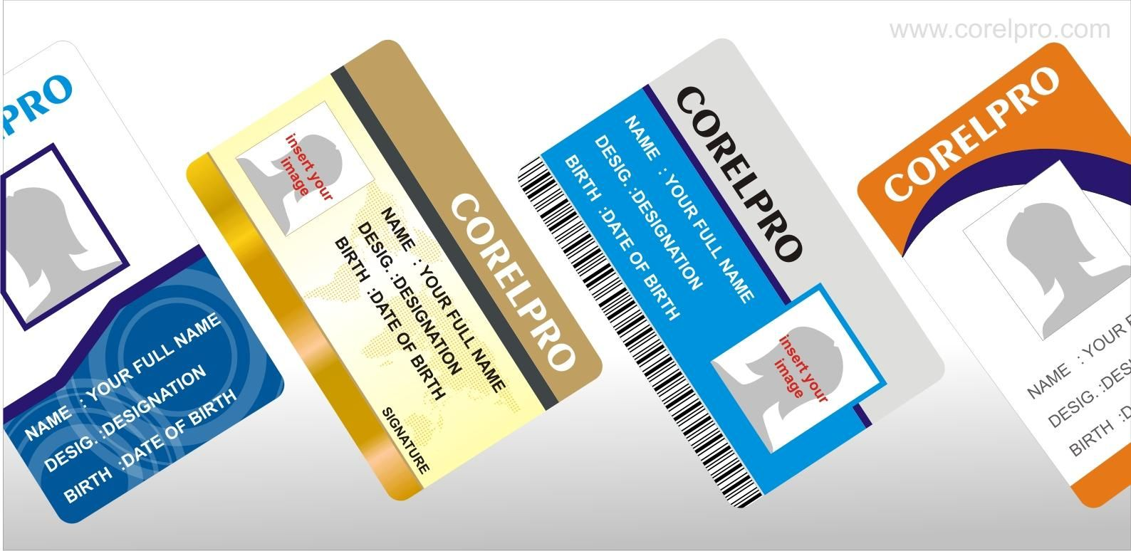 Corel Draw Tutorials And Free Corel Draw Open Files From Corelpro Com Id Card Template Business Card Design Inspiration Card Template