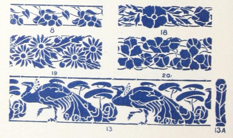 1910s Stencil Designs Stencil designs, Art and craft