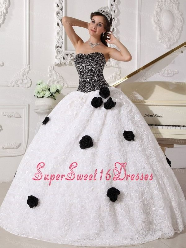 The Black and White Sweet Sixteen Dress