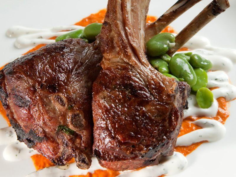 Grilled Lamb Loin Chops With Chili Garlic Recipe California Lamb Grilled Lamb Lamb Recipes Lamb Ribs