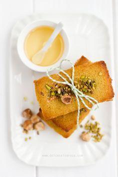 ... hazelnut honey and pistachio financiers ...