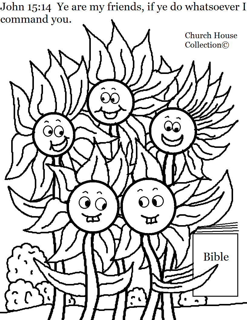 Church House Collection Blog Flower Family John 15 14 Coloring Page For Kids In Sun Summer Coloring Pages Sunday School Coloring Pages Coloring Pages For Kids