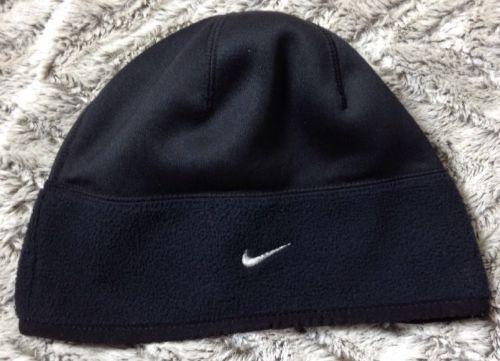 ada1b77f383 Nike Fleece Hat One Size Mens NikeFit Polyester Beanie Skull Cap Black