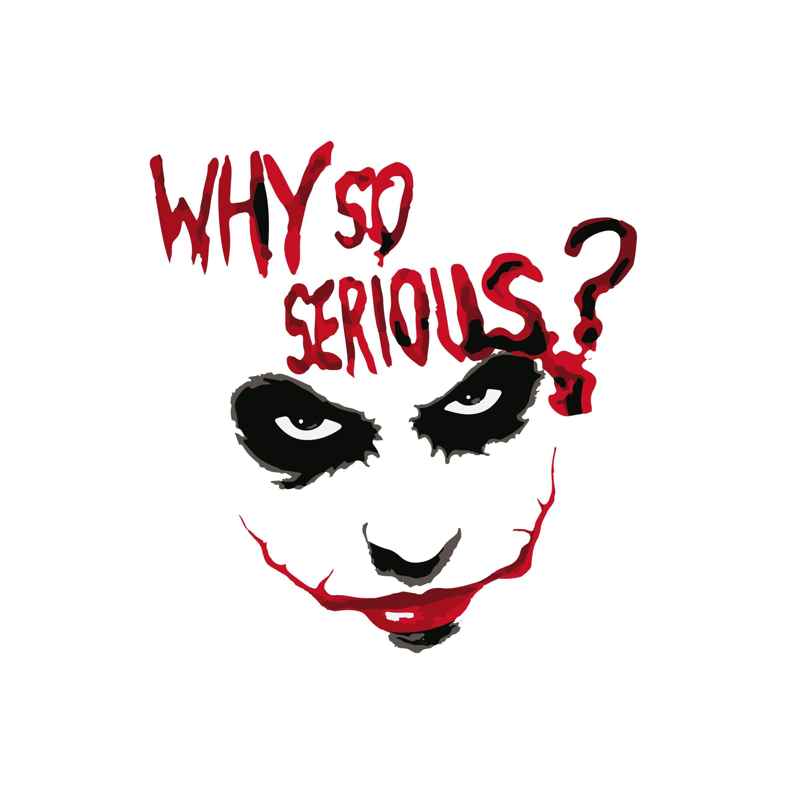Camiseta Coringa - Why So Serious? (Branca) | Tatuagem coringa ...