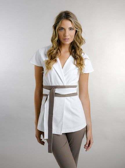 Lara luxe salon uniforms salon wear spa uniforms for Spa uniform female