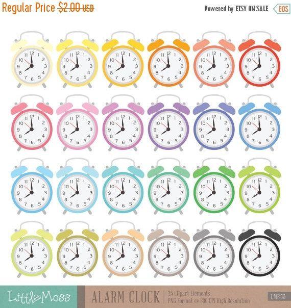 Alarm Clock Clipart Etsy Clock Clipart Clip Art Clock