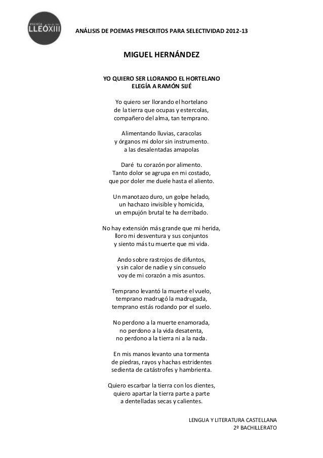 Miguel Hernández Elegía A Ramón Sijé Mindfulness Feelings