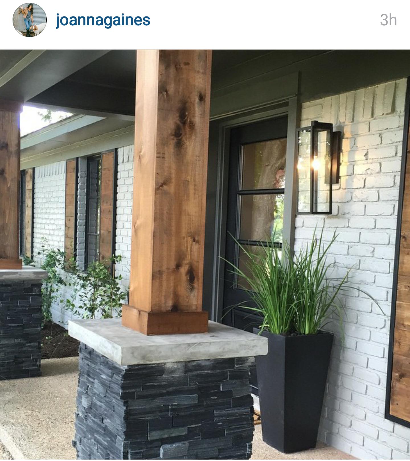 Joanna gaines hallway ideas  Joanna gaines on instagram  Corbels porches beams  Pinterest