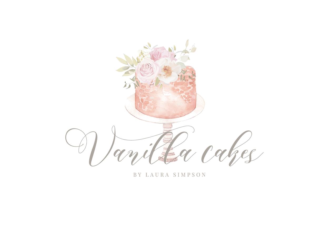 Bakery Logo Design, Cake Logo, Premade Logo Design, Baking