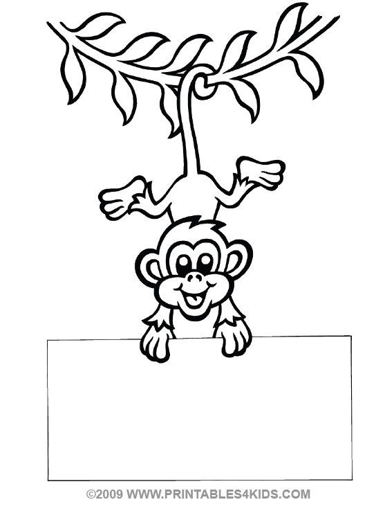 monkey hanging from vine clip art free | Printables 4 Kids | Kaci ...