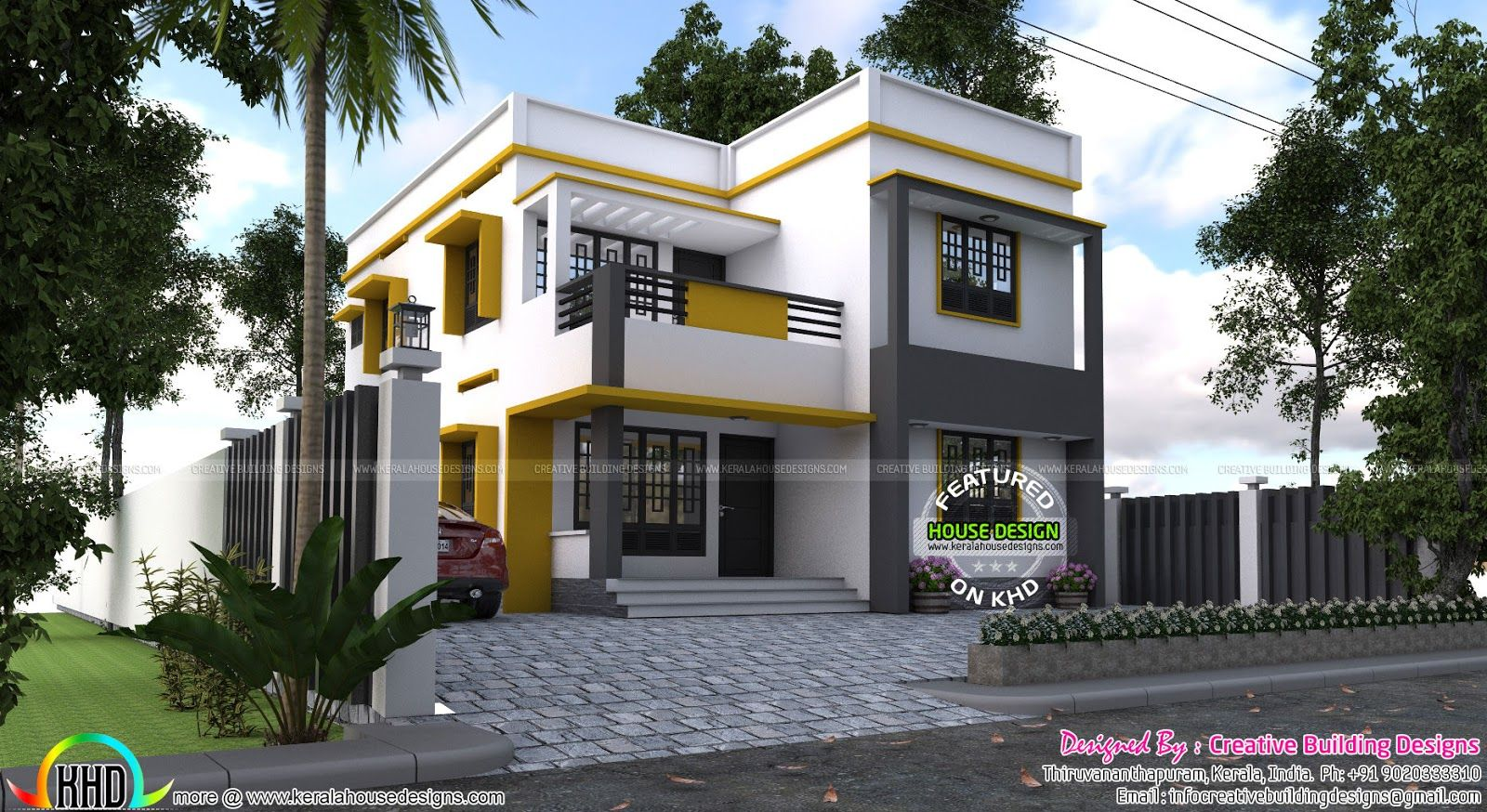 Gentil 2000 Sqft Box Type House | Kerala House Plans | House Plans | Pinterest |  Kerala, House And Roof Plan