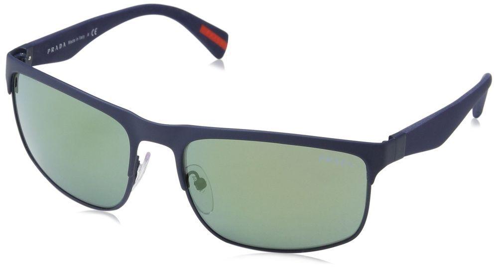 df17a46058a Prada Linea Rossa Men s PS 56PS Sunglasses Blue Rubber   Light Green Mirror  Petr (eBay Link)
