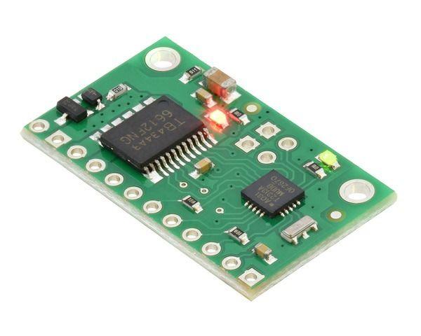 Pololu Qik 2s9v1 Dual Serial Motor Controller #logicboard