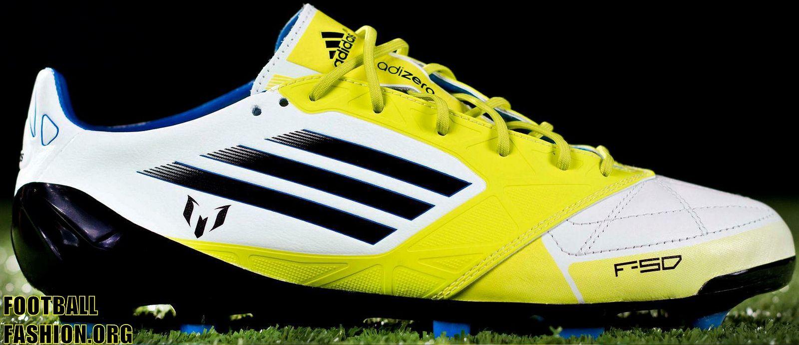 brand new 65c56 14e40 Lionel Messi s 2012 Copa del Rey Final adidas adizero F50 Soccer Boots