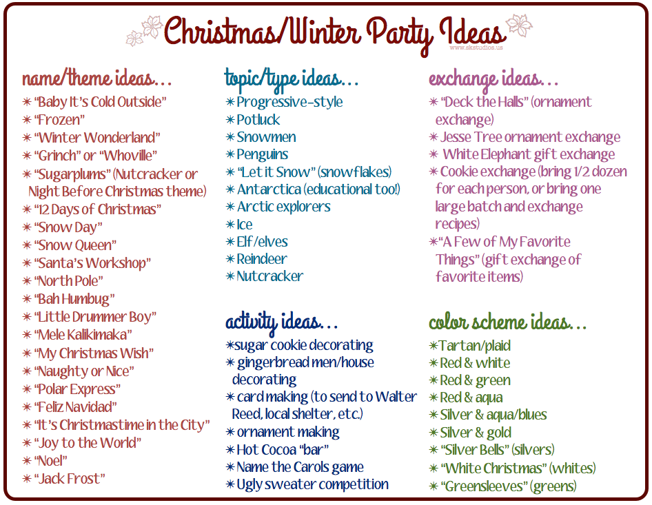 31 Days Advent Calendar & bonus party ideas! (FREE