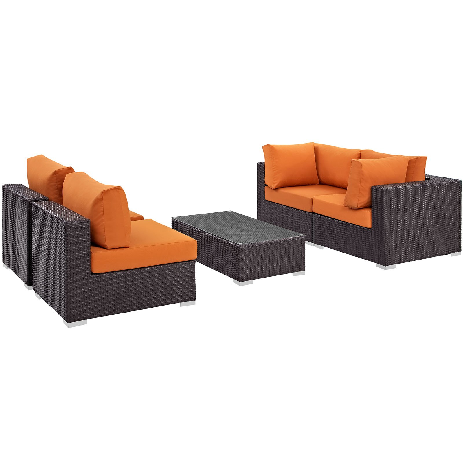Convene 5 Piece Outdoor Patio Sectional Set Products