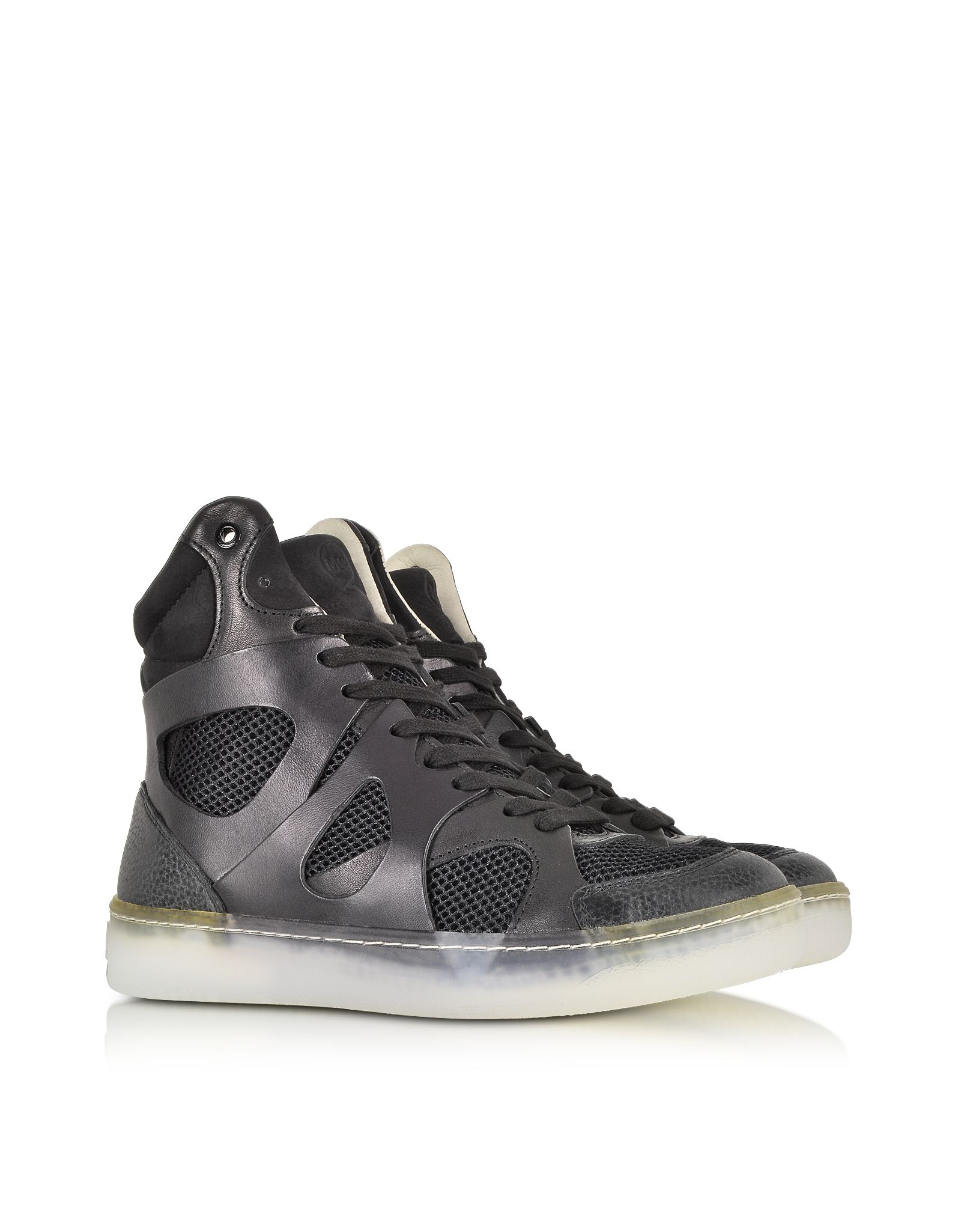 0512fbf80ec McQ Alexander McQueen x Puma Black Leather And Mesh Move Mid High-Tops at  FORZIERI  488