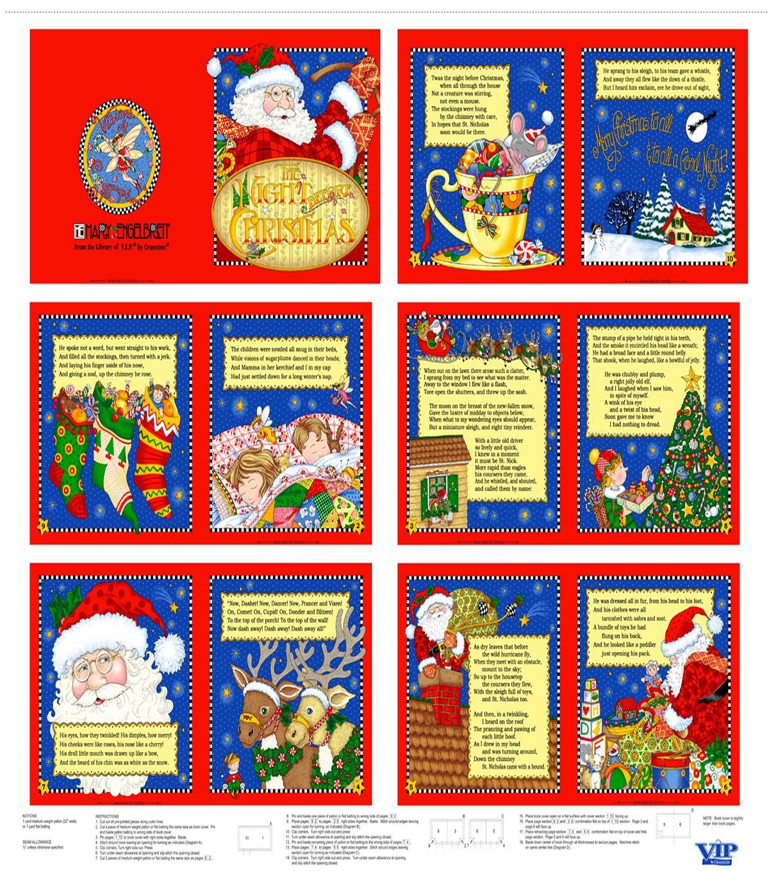 Holiday inspirations fabric mary engelbreit night before christmas