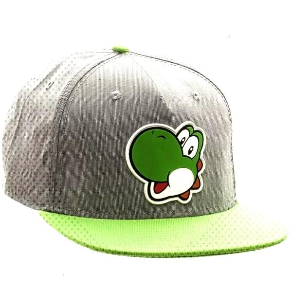 Nintnedo Yoshi Rubber Sonic Weld Gray/Green Snapback Yoshi may be able to eat just about everything