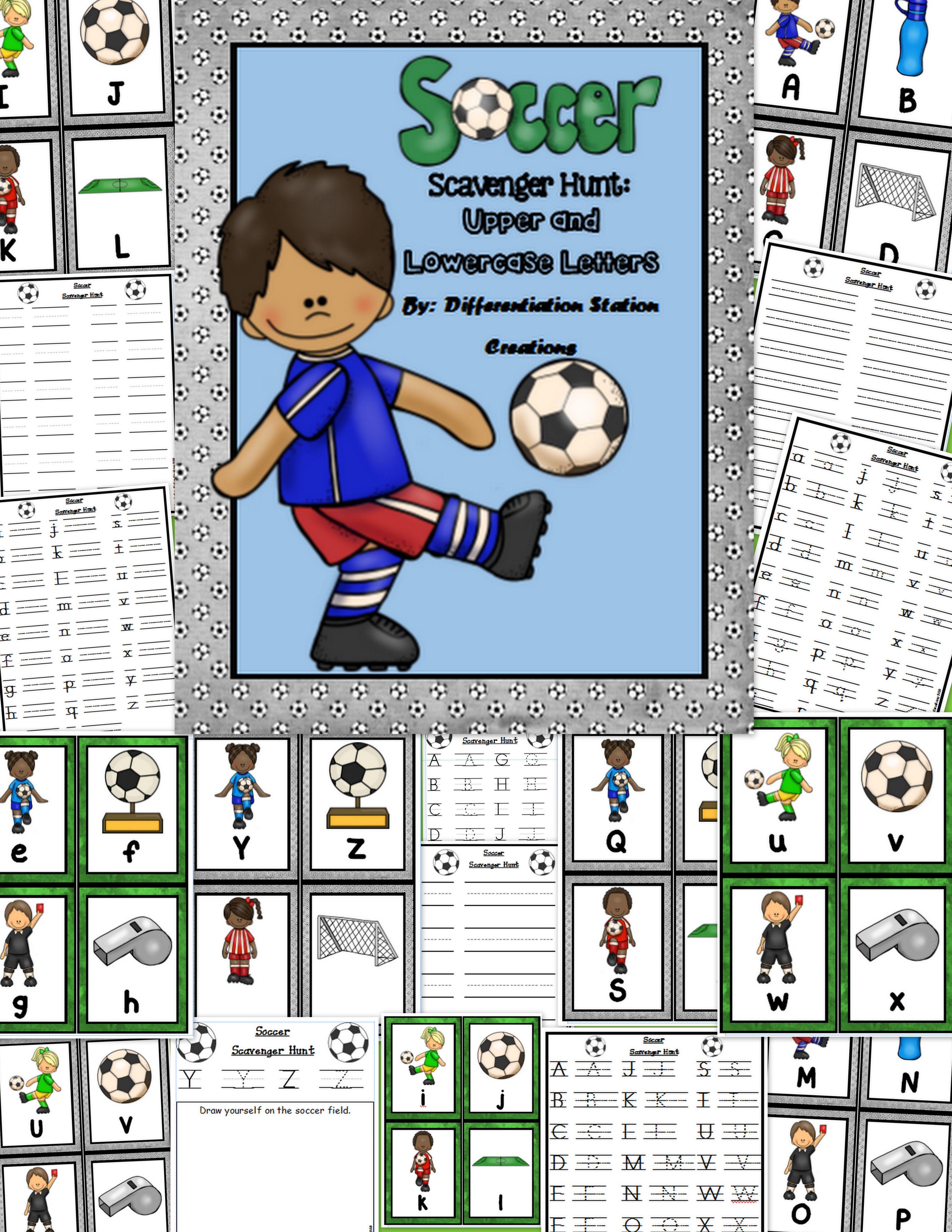 Soccer Alphabet Scavenger Hunt Write The Room